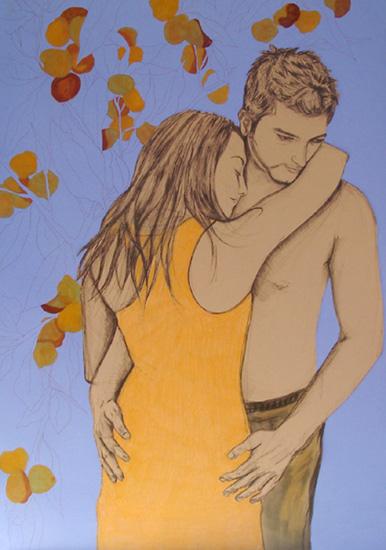 Sabine Germanier Dessin Couple Clementines